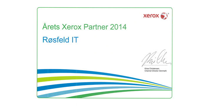Årets Xerox Partner 2014: Røsfeld IT